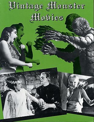 Vintage Monster Movies. Paperback First Print