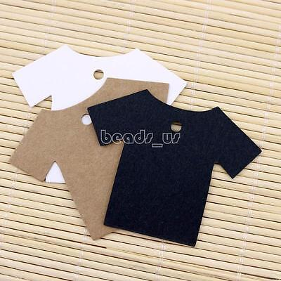 100pcs 55x70mm T-shirt Kraft Price Tags Handmade Jewelry Craft Hang Label Cards