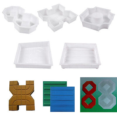 Square Garden Paths Concrete Colorful Brick Mold Circle Stepping Stone Maker
