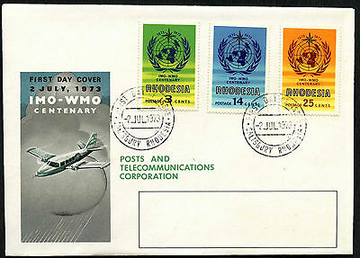 Rhodesia 1973 IMO WMO Centenary FDC First Day Cover #C40739