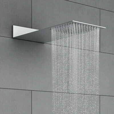 """Concealed Fixed Shower Head Chrome Plated Brass Square Screw Mounted 1/2"""" BSP"""