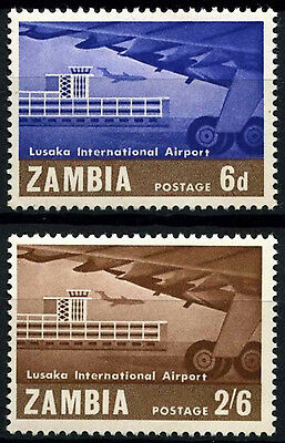 Zambia 1967 SG#7 SG#122-3 Lusaka International Airport MNH Set #D48230