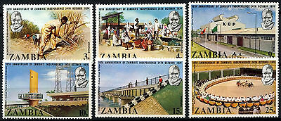 Zambia 1974 SG#211-216 Independence 10th Aniniv MNH Set #D48213
