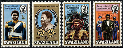 Swaziland 1971 SG#188-191 King Sobhuza Accession Jubilee MNH Set #D49105