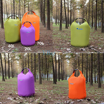 40L 70L Waterproof Dry Bag Sack Pouch Boating Kayaking Camping Rafting Hiking XX