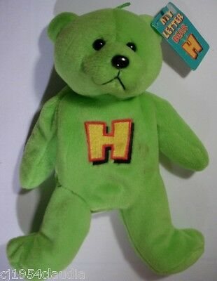 """Gifted Bears By Skansen """"my Letter Bear""""  Letter """"h""""  New (Tag Stain)"""