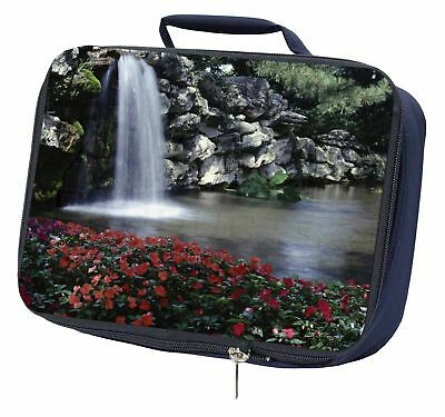 Tranquil Waterfall Navy Insulated Lunch Box, W-5LBN