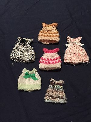 Hand Knitted Dolls Clothes For 4 Inch Doll