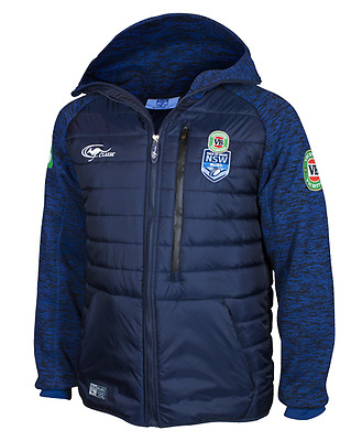 NSW Blues State Of Origin 2017 Players Heavy Weight Jacket Adults Sizes S-5XL!