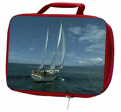Sailing Boat Insulated Red School Lunch Box/Picnic Bag, BOA-2LBR