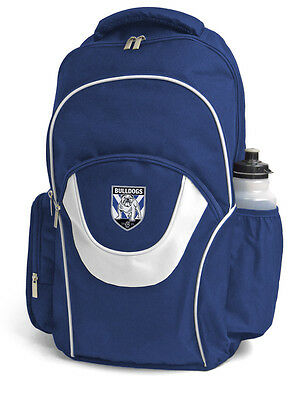Canterbury Bulldogs NRL Fusion Backpack with 3 Compartments! School Gym Bag!