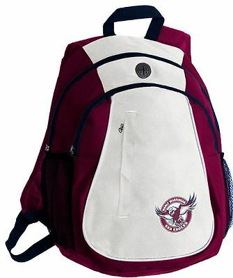 Manly Sea Eagles NRL Two Tone Team Logo Backpack! School Gym Bag! RRP $45!