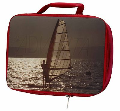 Wind Surfing Insulated Red Lunch Box, SPO-WS4LBR