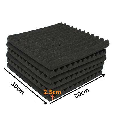 12Pcs 12x12x1 Inch Drum Room Accessories Acoustic Foam Treatment Sound Proofing