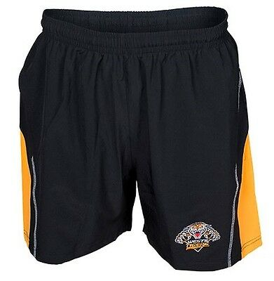 Wests Tigers NRL Classic Core Training Shorts Size S-5XL! Brand New!