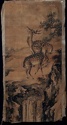 Great Long Rare Old Paper Chinese Hand Painting Landscape ShenQuan Marks KK242