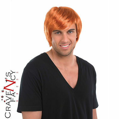 Ginger Boy Band Wig Red Mens 80s 90s Fancy Dress Costume Accessory New