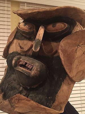 Tikuna Indian Tribe Mask/hood From The Brazilian Amazon!