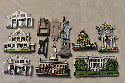 Lot Of 9 Shelia's Collectibles! 4 Signed By the Artist! Statue Of Liberty!