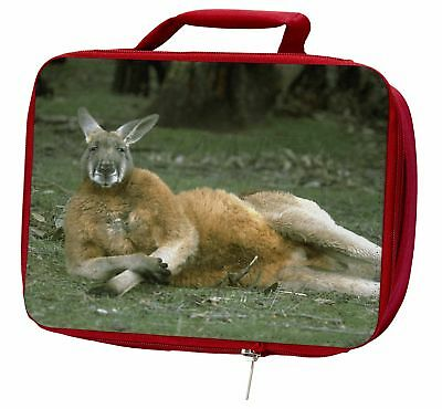 Cheeky Kangaroo Insulated Red School Lunch Box/Picnic Bag, AK-1LBR