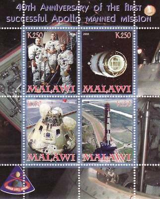 Apollo Spaceflight Anniversary - 4 Stamp  Sheet  - SV0147