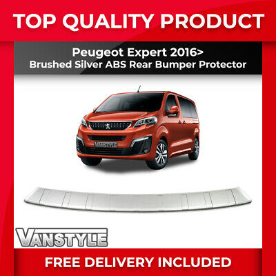 Peugeot Expert & Traveller 2016+ Rear Bumper Protector Abs Brushed Protection