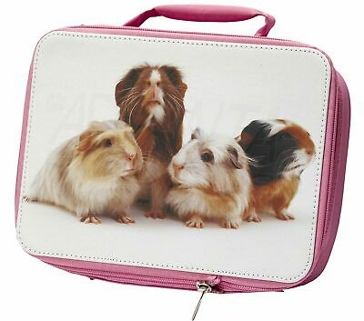 Guinea Pigs Insulated Pink School Lunch Box Bag, GIN-1LBP