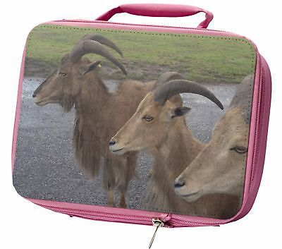 Three Cheeky Goats Insulated Pink School Lunch Box Bag, GOAT-2LBP