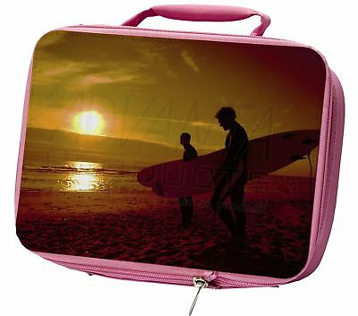 Sunset Surf Insulated Pink School Lunch Box Bag, SPO-S1LBP