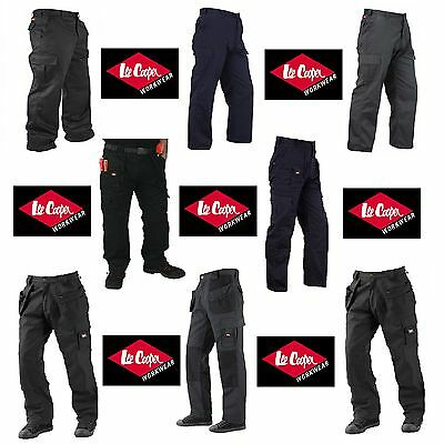 Mens Lee Cooper LC205 LCPNT206 LC216 Cargo | Holster Pocket Work Trousers Pants