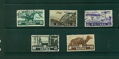 Eritrea - 5 used stamps from I934-36