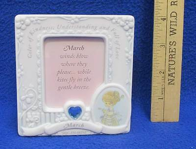 Precious Moments Picture Frame March Birthday Month W Birthstone