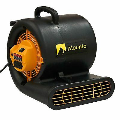 MOUNTO 1/3HP 2000+CFM  2Speed Air Mover Carpet Floor Dryer (Black)
