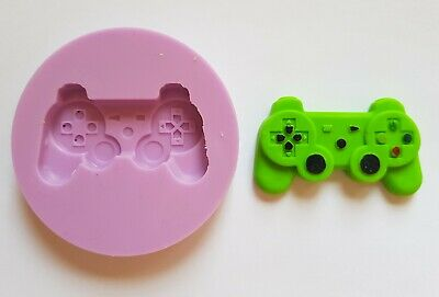 5cm PLAYSTATION CONTROLLER SILICONE MOULD FOR CAKE TOPPERS, CLAY ETC