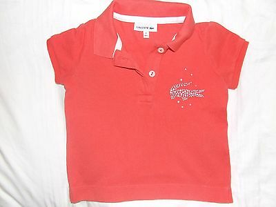 Girls or boys Lacoste orange polo age 18-24 months 2 years