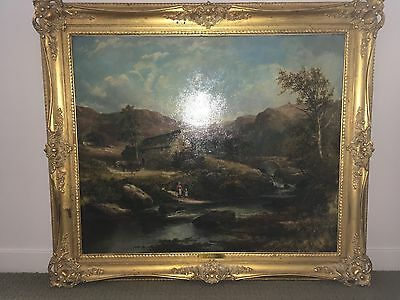 Landscape Oil Painting, 'A View in North Wales' B. W. Leader R.A.