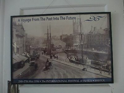 Vintage International Festival Of The Sea Bristol 1996.Original  Framed Print.