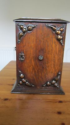 A Small Antique  Ornate  Retro Oak Wooden Cabinet With Drawers