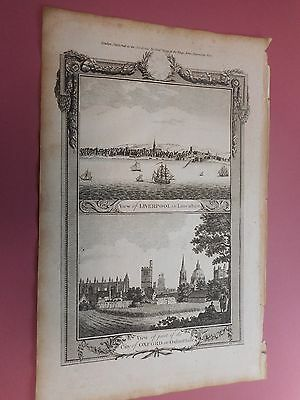 100% Original Prospect Plan Liverpool And Oxford   By Hogg C1794 Vgc