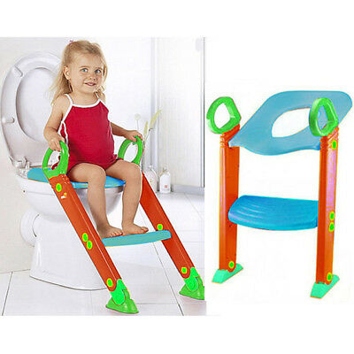 Children Baby Toddler Kid Potty Training Toilet Seat Trainer Urinal Chair Ladder