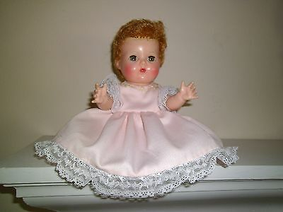 """No Doll Beautiful Dress&bonnet Hand Embroide By Me 11"""" Tiny Tears Betsy Wetsy"""