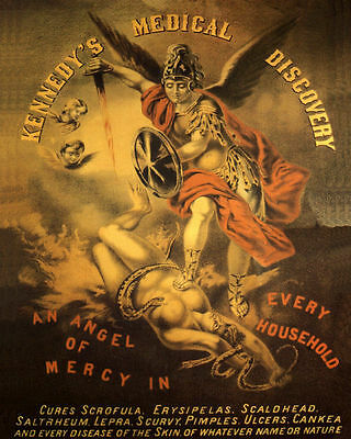 Poster Kennedy's Medical Discovery Angel Of Mercy Medicine Vintage Repro Free Sh