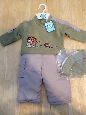 baby boys Trousers And Jumper 0 - 3 months Cute Lion Design Bnwt