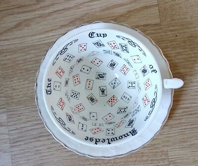 Alfred Meakin Cup of Knowledge Fortune Telling cup and saucer RARE bone china
