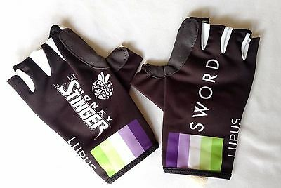 New 2016 Men's Biemme Lupus Pro Cycling Padded Half-Finger Gloves, Black