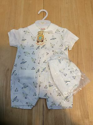 baby boys Summer Suit And Hat Age 6-9 months Bnwt