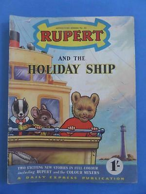 Adventure Series 22 Rupert And The Holiday Ship! Nice!