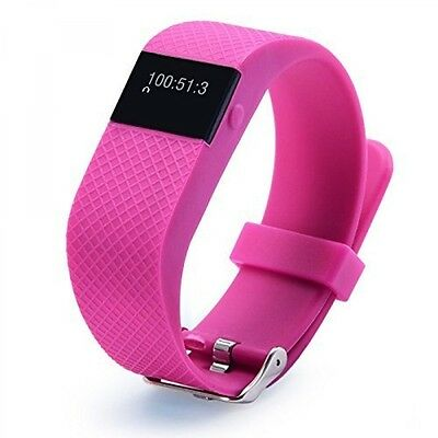 PINK TW64S Smart Wristband Waterproof Sports Fitness Tracker Bluetooth Bracelet