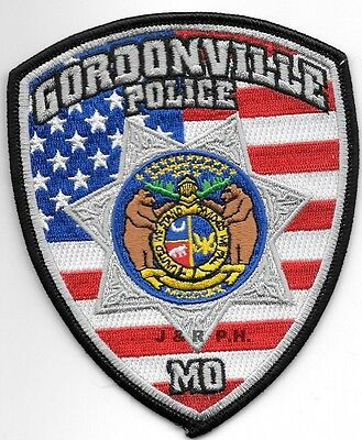 "*NEW*  Gordonville, MO (4"" x 5"" size) shoulder police patch (fire)"