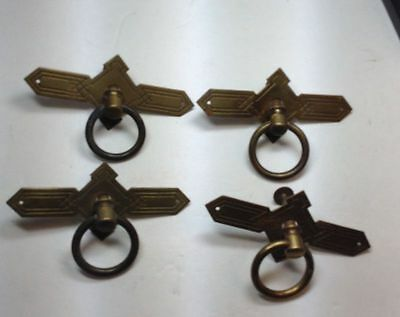 Victorian brass Dresser Draw ring pull Handles hardware set